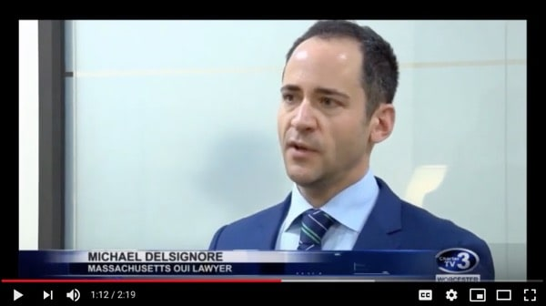 Photo of Attorney DelSignore was interviewed by Worcester News Tonight